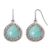 Monet® Aqua and Marcasite Teardrop Earrings