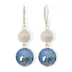 Monet® Silver-Tone Double-Drop Earrings
