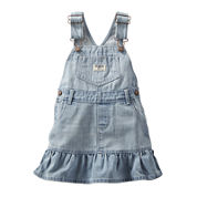 OshKosh B'gosh® Ruffle-Hem Denim Jumper - Baby Girls 3m-24m