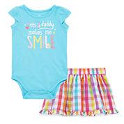 Okie Dokie® Bodysuit or Woven Skort - Baby Girls newborn-24m