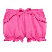 Okie Dokie® Pink Bubble Shorts - Baby Girls newborn-24m
