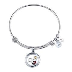 Disney Womens Mickey Mouse Silver Over Brass Charm Bracelet