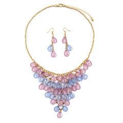 Mixit Womens Blue Purple Shaky Jewelry Set