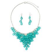 Mixit Womens Green Shaky Jewelry Set