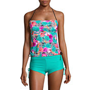 Arizona Floral Bandeau Swimsuit Top-Juniors