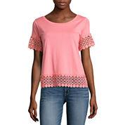 a.n.a Short Sleeve Scoop Neck T-Shirt