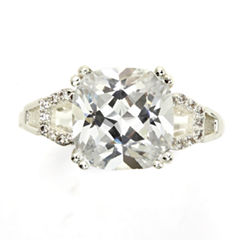 Sparkle Allure White Cubic Zirconia Halo Ring