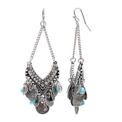 Mixit Turquoise Open Chandelier Earrings