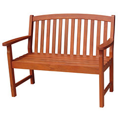 International Concepts Slatback Patio Bench