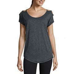 Xersion™ Studio Lattice Shoulder Short Sleeve Tee