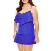 Arizona Flounce Tankini Swim Top or Arizona Skirtini Swim Bottoms - Juniors Plus