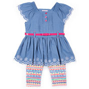 Little Lass N/A 2-pc. Legging Set-Preschool Girls