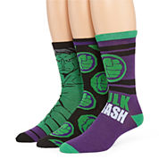 Marvel® Hulk 3-pk. Crew Socks