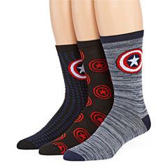 Marvel® Captain America 3-pk. Crew Socks