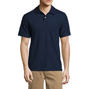 St. John's Bay Short Sleeve Slim Fit Solid Performance Pique Polo Shirt