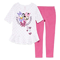 Disney Minnie Mouse Legging Set-Big Kid Girls