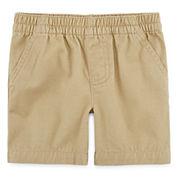 Okie Dokie® Twill Pull-On Shorts - Baby Boys newborn-24m