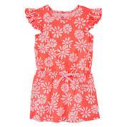 Okie Dokie Short Sleeve Cap Sleeve Sundress - Toddler Girls