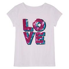 Total Girl Short Sleeve Sequin T-Shirt-Preschool Girls