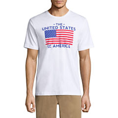 St. John's Bay Americana Short Sleeve Crew Neck T-Shirt