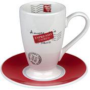 Konitz Coffee Bar Amore Mio 4-pc. Irish Coffee Cup and Saucer Set