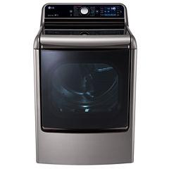 LG 9.0 Cu. Ft. Mega Large Capacity TurboSteam™ Dryer With EasyLoad™ Door