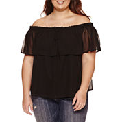 Decree Off The Shoulder Top - Juniors Plus