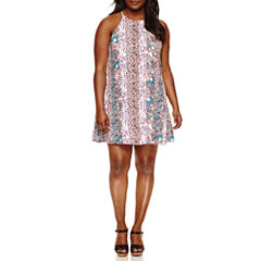 Decree Halter Swing Dress - Juniors Plus