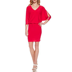 Msk 3/4 Sleeve Blouson Dress