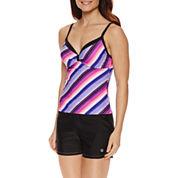 Free Country® Stripe Tankini Swimsuit Top or Swim Short