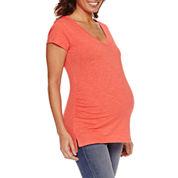 a.n.a Short Sleeve V Neck T-Shirt-Maternity