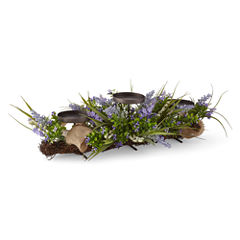 JCPenney Home™ Spring Lavender Floral 3 Candle Centerpiece