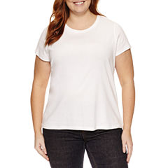 St. John's Bay Short Sleeve Crew Neck T-Shirt-Plus