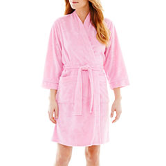Earth Angels® 3/4-Sleeve Short Wrap Robe