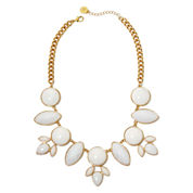 Liz Claiborne® White Stones Gold-Tone Drama Collar Necklace