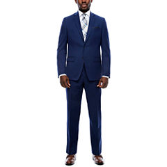 Collection by Michael Strahan Navy Plaid Suit Separates- Classic Fit