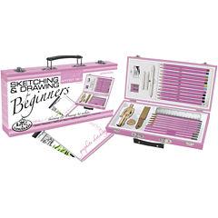 Pink Art For Beginners Artist Set-Sketching & Drawing