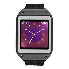 Geneva Mens Black Strap Watch-33729