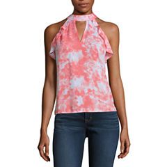 Decree Ruffle Sleeveless Top - Juniors