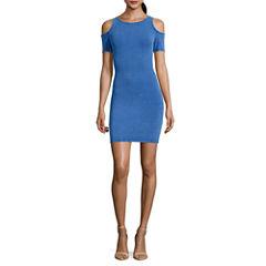 Decree Cold Shoulder Bodycon Dress - Juniors