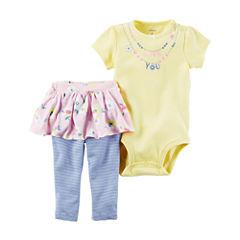 Carter's Girls 2 pc. Bodysuit Pant Set