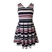 Lilt Textured Knit Skater Sailor Dress