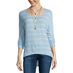 Self Esteem 3/4 Sleeve Round Neck T-Shirt-Juniors