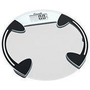 Escali® Round Glass Bathroom Digital Scale B18ORC