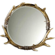 Stag Horn Round Wall Mirror