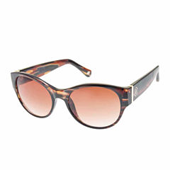 Nicole By Nicole Miller Retro Rectangle Rectangular UV Protection Sunglasses