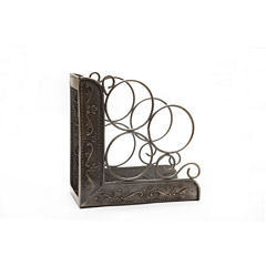 Old Dutch Antique Embossed Victoria 3 Bottle WineRack Bookend