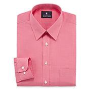 Stafford Travel  Long Sleeve Purple Grnd Shirt