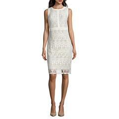 J Taylor Sleeveless Sheath Dress