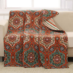 Barefoot Bungalow 100% Cotton Sofia Reversible Throw
